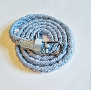 NWOT Skinny Light Blue Braided Belt